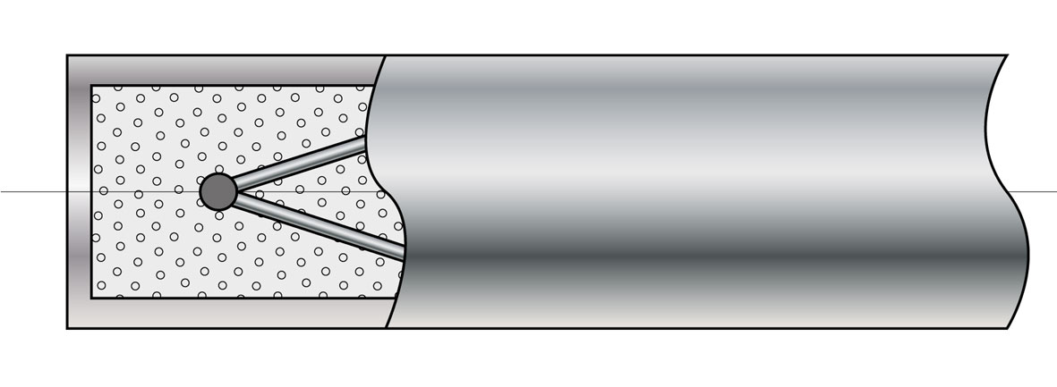 Odizolowana spoina pomiarowa termopary