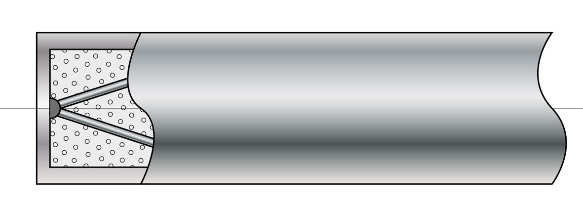 Uziemiona spoina pomiarowa termopary