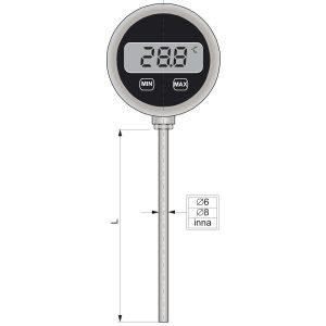 Czujniki temperatury z wyświetlaczem LCD WTOPI