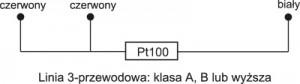 Rezystancyjne czujniki temperatury - podłączenie 3-przewodowe