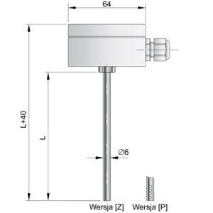 Kanałowe czujniki temperatury TOPK-7