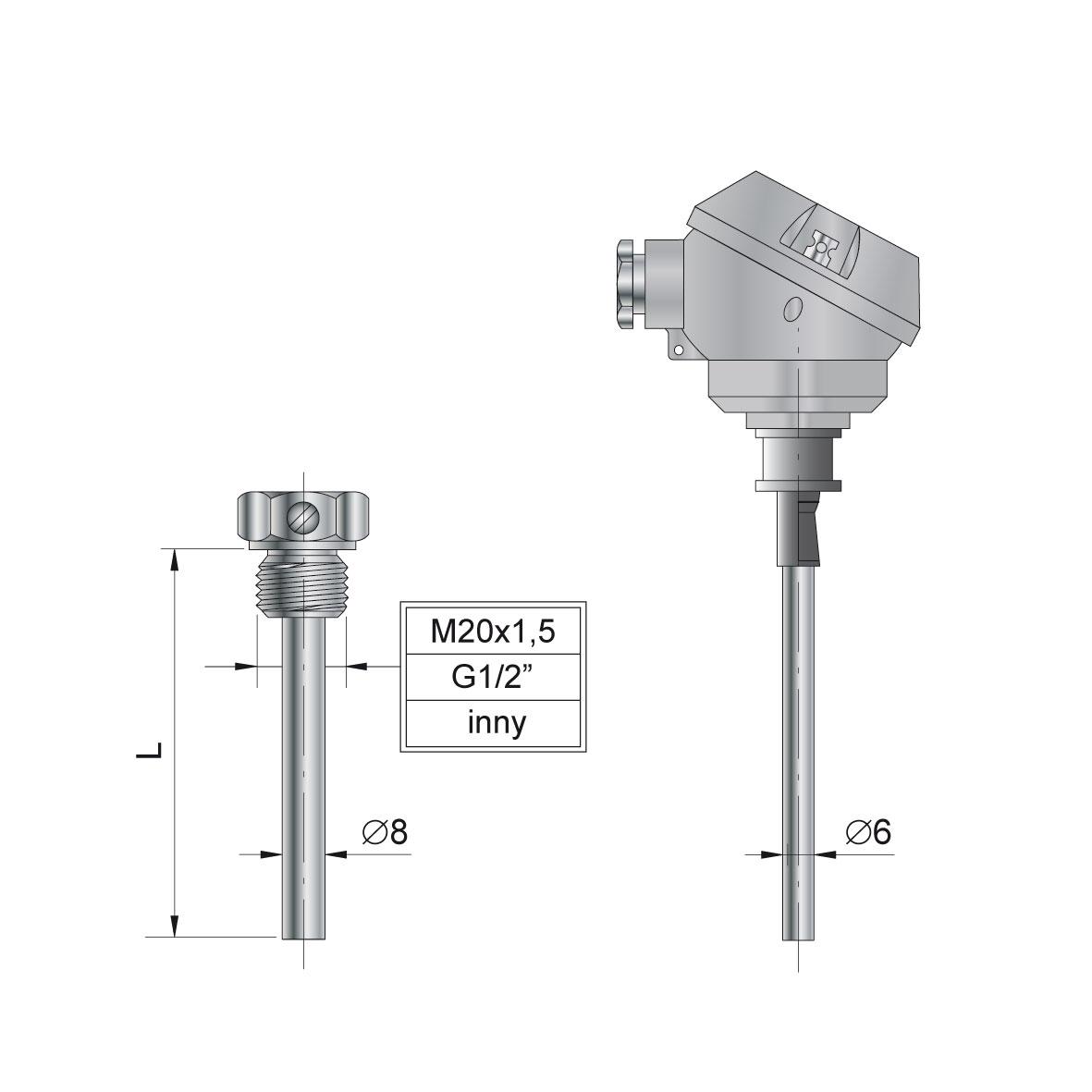 Wszystkie nowe TOP-145 - czujniki temperatury - Czujniki Temperatury, Regulatory MJ75