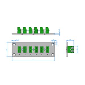 Panele z gniazdami termoparowymi mini PAM