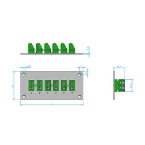 Panele z standardowymi gniazdami termoparowymi  PAS