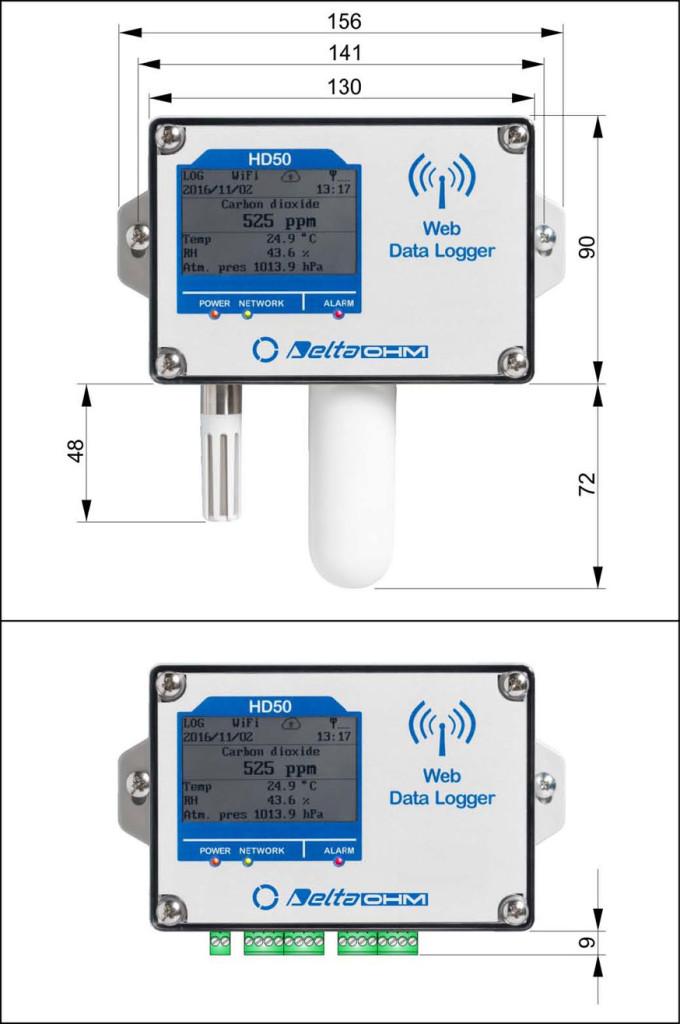 Rejestratory Wi-FiHD50 - wersja z czujnikami zintegrowanymi